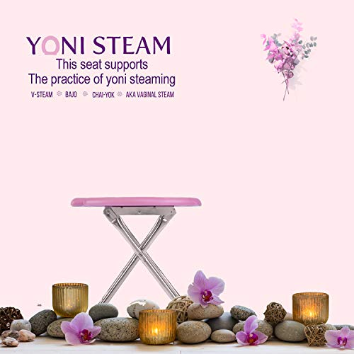 Yoni Steam Seat Flat Folding Lightweight Portable Toilet Stainless Steel Porta Potty Commode Chair Feminine Wellness Camping Festivals Hiking Trips