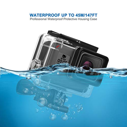 Waterproof Case for GoPro Hero 7 5 6 Housing Case Diving Protective Shell 45 Meter for Go Pro Hero7 6 5 2018 Action Camera with Bracket Accessories