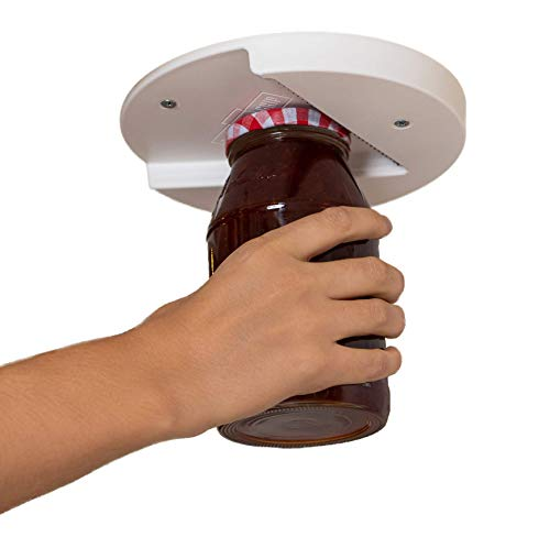 Jar Opener: The Original Under Cabinet Lid Opener, Since 1977, Opens Any Size/Type of Lid Effortlessly, Perfect for Arthritis, Weak Hands, and Seniors
