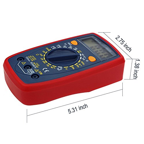 FanBell Digital Multimeter with Ohm Volt Amp and Diode Voltage Tester Meter (Dual Fused for Anti-Burn)