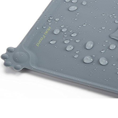 Silicone Pet Food Mats Tray Non Slip Pet Dog Cat Bowl Mats Placemat Dog Pet Cat Feeding Mat Waterproof Dog Cat Food Mats Pet Water Mats for Carpet