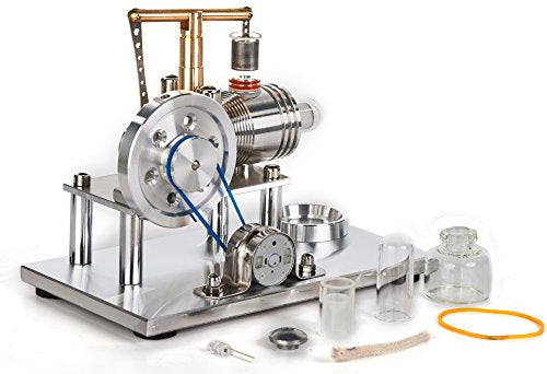 Hot Air Stirling Engine Motor Model Educational Toy Electricity Generator Colorful LED SC (SC02M)