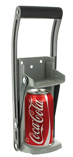 12 oz Aluminum Can Crusher & Bottle Opener | Heavy Duty Metal Wall Mounted Soda Beer Smasher – Eco-Friendly Recycling Tool