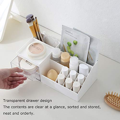 Multifunction Desk Organizer, Makeup Storage for Eyeshadows, Concealers, Powders, Nail Polish,9.65''x 4.8''x 3.67''