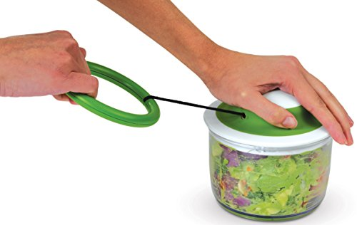VeggiChop Hand-Powered Food Chopper (Arugula)
