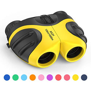 Binoculars for Kids Outdoor Toys 3-12 Years Old Kids 8X21 High Resolution Compact Waterproof Bird Watching Foldable Binocular Perfect Xmas Gift