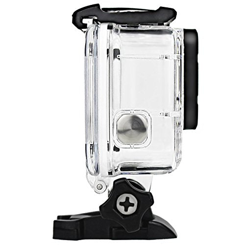 Double Lock Waterproof Housing for GoPro Hero 2018/7/6/5 Black, Protective 45m Underwater Dive Case Shell Bracket Accessories for Go Pro Action Camera