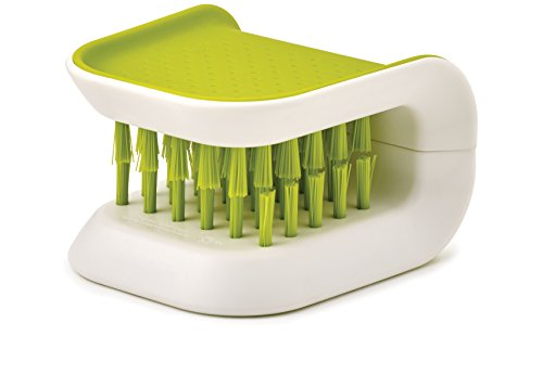 Blade Brush Knife and Cutlery Cleaner Brush Bristle Scrub Kitchen Washing Non-Slip, One Size, Green
