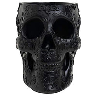 Skull Makeup Brush Holder Extra Large, Strong Resin Extra Large
