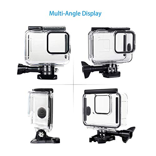 60m Waterproof Housing Case for GoPro Hero 8 Black Diving Protective Shell Bracket Accessories Action Cam Rubber Pins Protect Power Button
