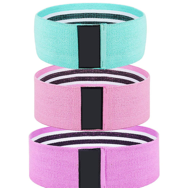 FanBell Booty Bands, Non Slip Resistance Bands for Legs and Butt, Workout Bands Exercise Bands Glute Bands for Women, 3 Pack