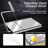 Cheese Slicer Set Stainless Steel Wire Cheese Slicer Thickness Adjustable Cheese Cutter for Cutting Soft, Semi-Hard, Hard Cheeses (Set of 4+5)