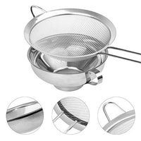 5.6inch Canning Funnel, Fine Mesh Strainer with Long Handle for Wide and Regular Jars, Stainless Steel