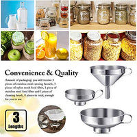 8 Pieces Canning Funnel Set Stainless Steel Wide Mouth Jar 120 160 200 Mesh Food Filter Strainer Cleaning Brush Liquid Spice Powder Oil