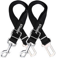 2 Packs Adjustable Pet Dog Cat Car Seat Belt Safety Leads Vehicle Seatbelt Harness, Made from Nylon Fabric
