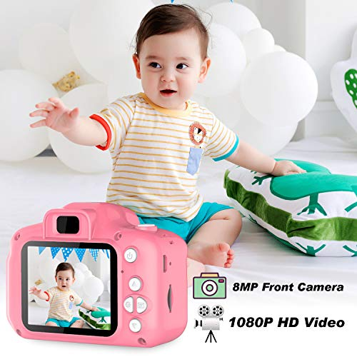 "Kids Camera Children Digital Cameras Kid Action Camera Toddler Video Recorder 1080P IPS 2"" Child Rechargeable Camera Christmas and Birthday Toy Gifts"