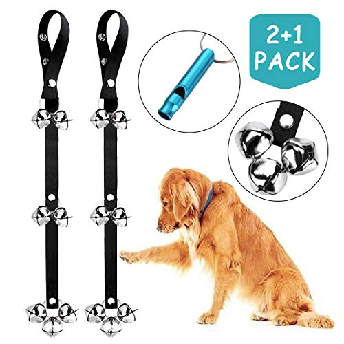 2 Pack Dog Doorbells Training Potty Dog Bells Adjustable Door Bell Dog Bells for Potty Training 7 Extra Large Loud 1.4 DoorBells