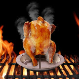 $9.99 Deal of Stainless Steel Chicken Roaster Rack Beer Can Chicken Holder Roasting Rack Rack Stand Cooking Rack Chicken Rack with Pan Grill Oven BBQ