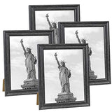 8x10 Picture Frame Farmhouse Black Wood Pattern Photo Frames for Wall or Desk Display, 4 Packs(NL002-8X10-DG)