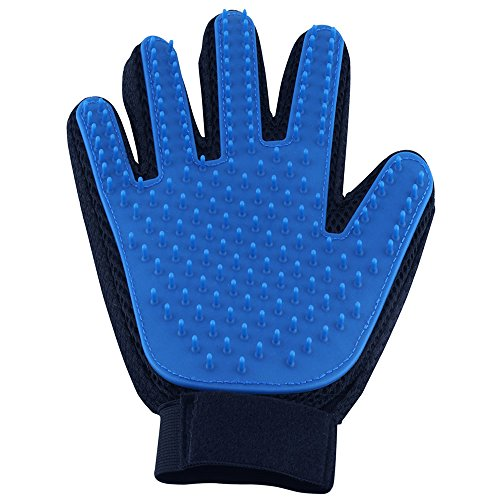 Pet Hair Remover Gentle Pet Grooming Brush Deshedding Glove Massage Mitt with Enhanced Five Finger Design Perfect for Dogs Cats with Long Short Fur