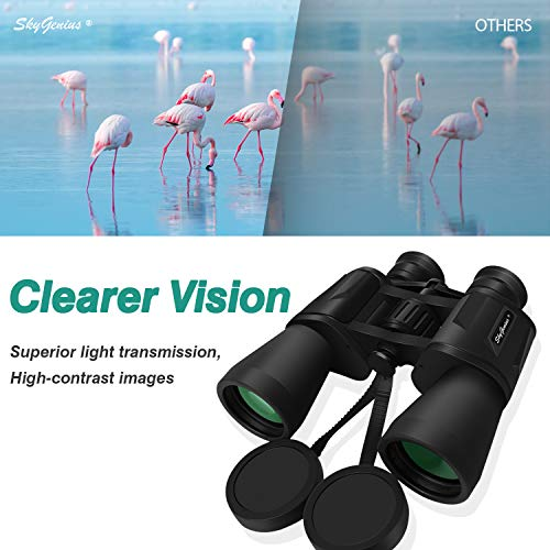 10x50 Powerful Adults Binoculars Durable Full-Size Clear Bird Watching Travel Sightseeing Hunting Wildlife Watching Outdoor Sports Games Concerts