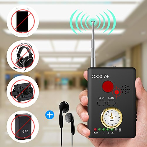 Anti-spy Camera Bug RF Signal Detector Enhanced Version Wireless Hidden Camera GPS Tracker Higher Sensitivity Multi-functional GSM Device Finder