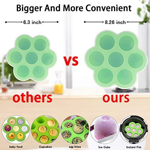 101PCS Accessories Set Instant Pot 6 8 Qt 2 Steamer Baskets Springform Pan Rack Egg Bites Mold Kitchen Tong Silicone Pad Oven Mitts Cheat Sheet Magnet