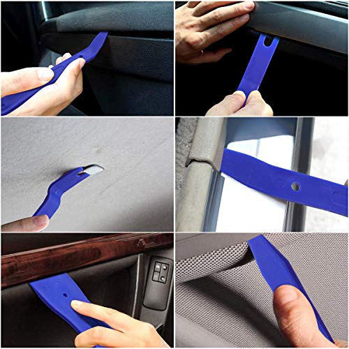 19pcs Car Trim Removal Tool Auto Door Panel Set Clip Plier Set Fastener Remover for Dash Center Console Audio Radio Removal Installation Remover Pry