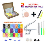 Snaps and Snap Pliers Set 360 Sets 24 Colors T5 Plastic Buttons for Sewing Crafting Resin Snaps Hand Tool Snaps Fastener Organizer Storage Containers