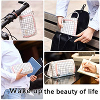 Large Capacity Colored Canvas Storage Pouch Marker Pen Pencil Case Simple Stationery Bag Holder For Middle High School Office College Student