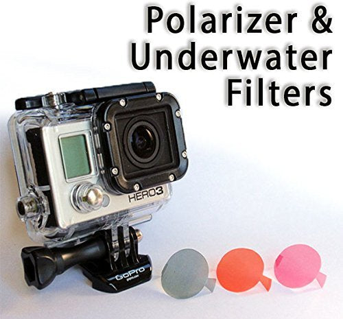 The Accessory Pro Polarizer and Underwater Dive Filters Compatible with All GoPro Hero4 Hero3+ Hero3 Cameras - 3 Pack