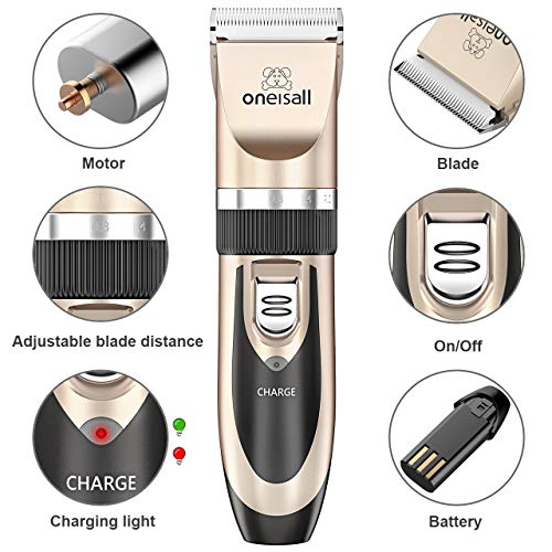 Dog Shaver Clippers Low Noise Rechargeable Cordless Electric Quiet Hair Clippers Set for Dog Cat