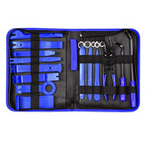 19Pcs Auto Audio Trim Removal Tool Set & Clip Plier Upholstery Fastener Remover Nylon Dash Door Panel Stereo Tool Kits