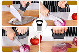 Stainless steel Onion Holder for Slicing, Vegetable Potato Cutter Slicer, Onion cutting tool, Stainless steel Cutting Kitchen gadgets.