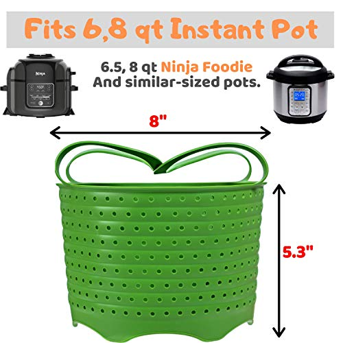 Steamer Basket | Foldable, Space-Saving | Fits 6,8 Qt Instant Pot and Other Similar-Sized Pressure Cookers Accessories