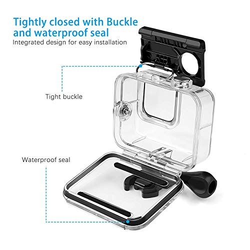 60M Waterproof Case for GoPro Hero 8 Underwater Waterproof Protective Housing Case for GoPro Action Camera with Quick Release Mount and Thumbscrew