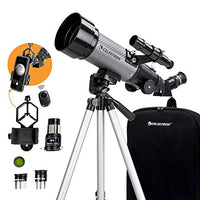 70mm Travel Scope DX Portable Refractor Telescope Fully-Coated Glass Optics Ideal Telescope for Beginners