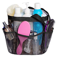 Mesh Shower Caddy Quick Dry Tote Bag Oxford Hanging Toiletry Bath Organizer 8 Storage Compartments for Shampoo Conditioner Soap Bathroom Accessories