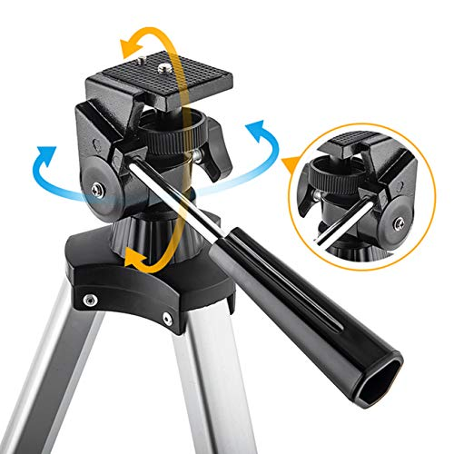 Telescope 70mm Aperture 400mm AZ Mount Astronomical Refracting Telescope for Kids Beginners Travel Telescope Carry Bag Phone Adapter Wireless Remote