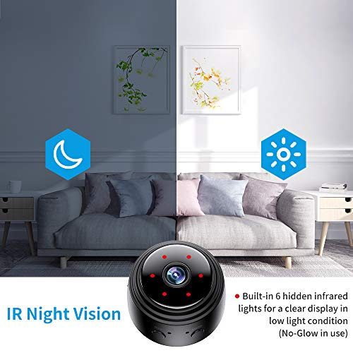 Mini Camera Wireless WiFi 1080P HD Home Security Surveillance Cameras with Night Vision Motion Detection