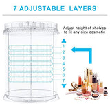 Makeup Organizer 360 Degree Rotation 7 Layers Adjustable Storage Cosmetics Multi-Function Large Capacity Makeup Storage Great Bathroom Dresser Vanity