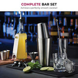 Cocktail Shaker Bar Tools Set Brushed Stainless Steel Bartender Kit Accessories Cocktail Strainer Double Jigger Bar Spoon Bottle Opener Pour Spouts