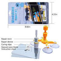 Windshield Repair Kit for Big Crack and Broken Star Chip with Clear Directions and Cleaning Cloth