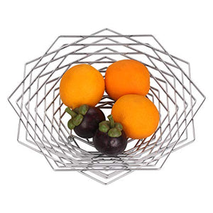 Large Fruit Bowl Modern Regular Hexagon Design Fruit Container Creative Basket Candy Dish for Kitchen Countertop Dining Room Decorative Display Stand