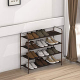 4-Tier Shoe Rack Storage Organizer, Bronze