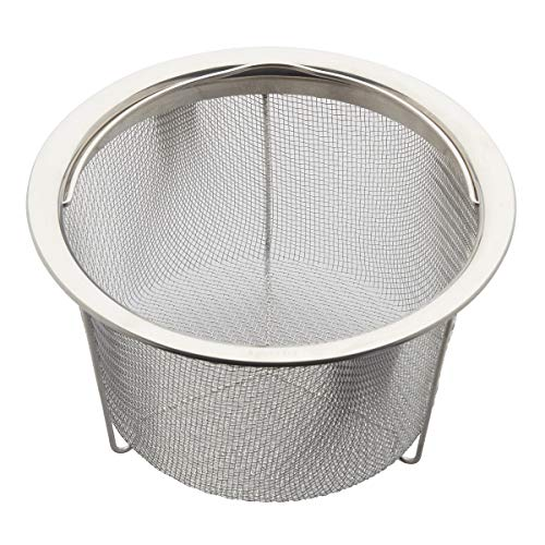 FanBell Official Large Mesh Steamer Basket, Stainless Steel