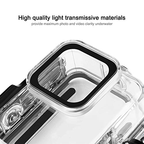 Waterproof Housing Case for GoPro Hero 8 60M 196FT Underwater Protective Diving Case Shell with Quick Release Mount for Go Pro Hero8 Action Camera