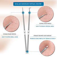 12 Heads Blackhead Remover Pimple Comedone Extractor Acne Whitehead Blemish Removal Kit Premium Stainless Steel Risk Free For Face Skin Portable Box