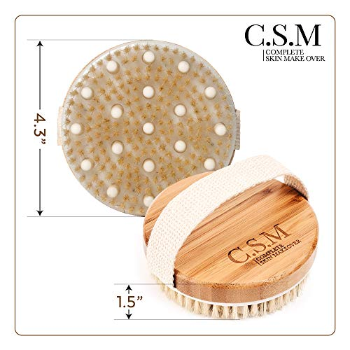 Body Brush for Wet Dry Brushing Gentle Exfoliating for Softer Glowing Skin Get Rid of Your Cellulite Dry Skin Improve Your Circulation Massage Nodes