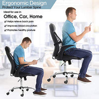 Lumbar Support, Car Lumbar Support with Double Breathable Mesh, Back Lumbar Support for Car and Office Chair (Black 2 Pack)
